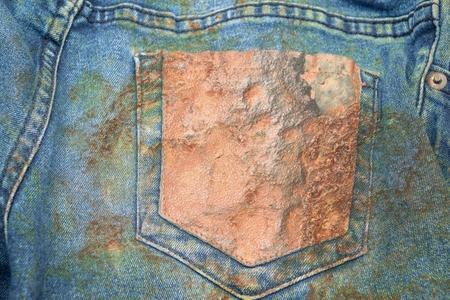 grunge corrosion on jean texture