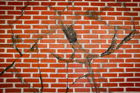 crack brick wall texture