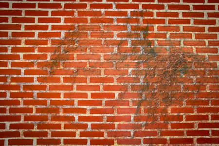 grunge rough stain on brick wall texture
