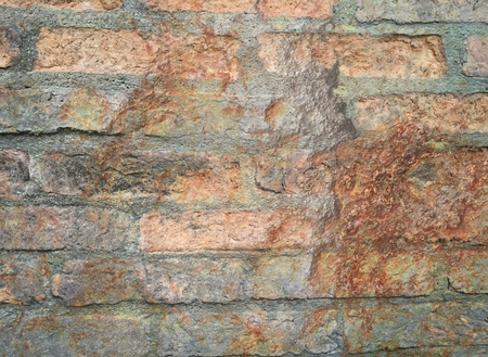 rusty stain old brick concrete wall texture Stock Photo