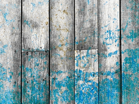 dirty blue stain on wood wall texture Stock Photo