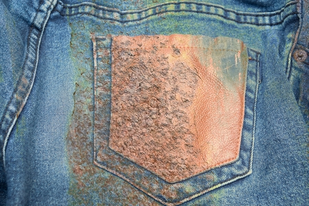 grunge corrosion stain on jean texture