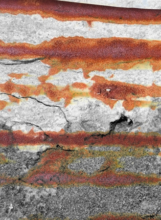 crack corrosion stain concrete wall texture Stock Photo