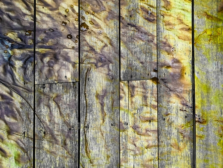 dirty stain on vertical old wood texture