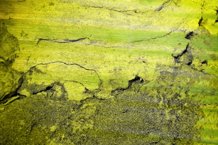 green stain on crack concrete wall texture