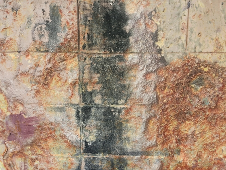 grunge corrosion stain on old concrete wall texture