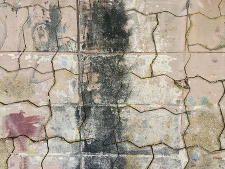 grunge worm brick floor texture Stock Photo - 76273046