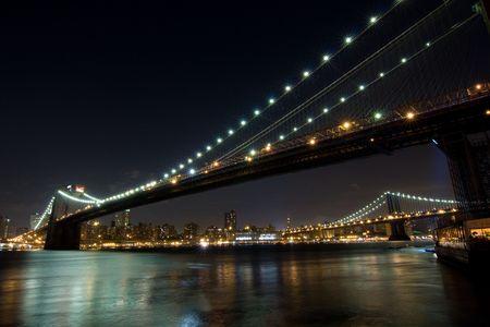 Brooklyn and Manhattan bridge, New York Stock Photo