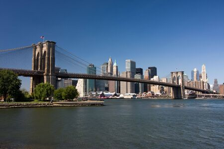 Brooklyn Bridge and lower Manhattan, New York photo