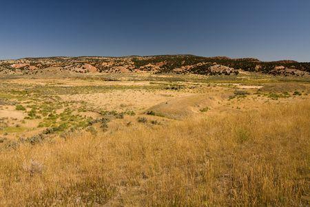 Semidesert in Wyoming, USA