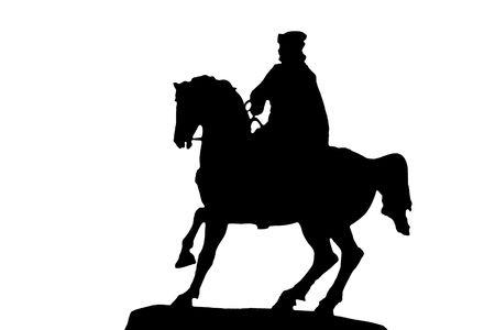 horseman: silhouette del cavaliere Archivio Fotografico