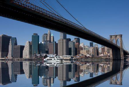 뉴욕시의 브루클린 다리와 맨해튼