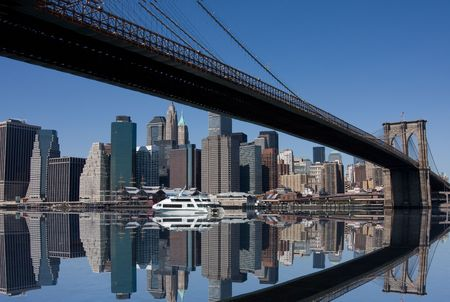 Brooklyn Bridge and Manhattan in New York City