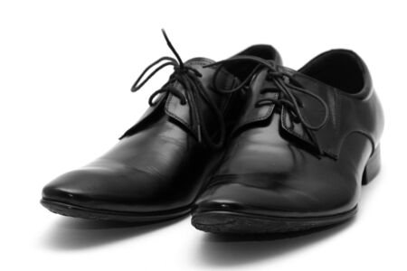Classic shiny black men's shoes Stock Photo - 6012391