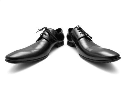 Classic shiny black men's shoes. Stock Photo - 6012388