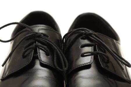 Classic shiny black men's shoes Stock Photo - 6024692