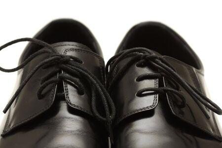 Classic shiny black men's shoes Stock Photo - 6024692