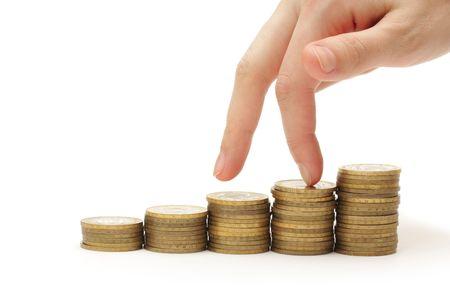 Financial drop Stock Photo