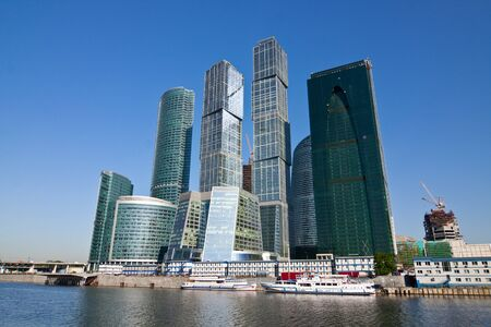 Modern business skyscrapers in Moscow city, Russia