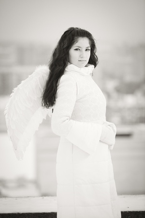 Angel on the roof photo