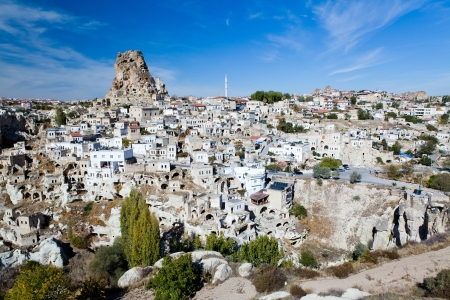 goreme: Ortahisar cave city in Capapdocia, Turkey