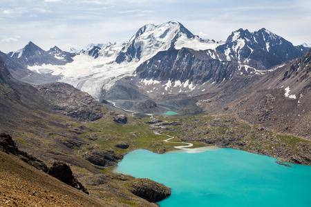 motton: Ala-Kul lake in Tien Shan mountains, Kyrgyzstan
