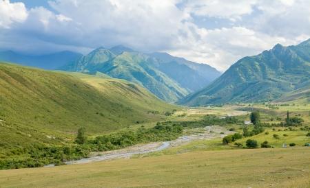 motton blue: Valley in Tien Shan mountains, Kyrgyzstan