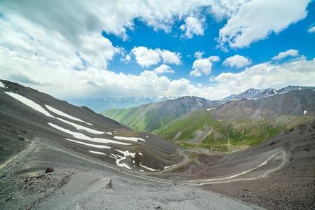 twisting: Twisting trail from Kegety pass, Tien Shan, Kyrgyzstan