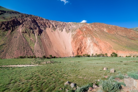 tien shan: Colorful red mountains of Tien Shan, Kyrgyzstan