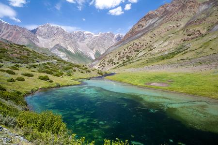 motton blue: Beautiful lake in Tien Shan mountains, Kyrgyzstan