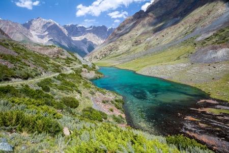 motton blue: Wonderful mountain lake, Tien Shan mountains, Kyrgyzstan