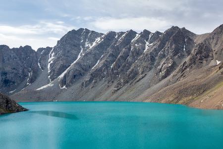 motton blue: Ala-Kul lake in Kyrhyzstan, Tien Shan mountains