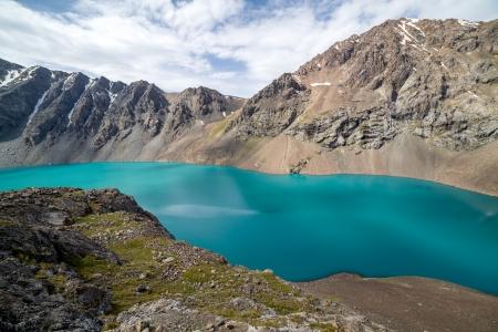 tien shan: Landscape of Ala-Kul lake in Tien Shan mountains, Kyrgyzstan