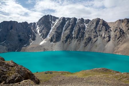 motton: Mountaineering camp at Ala-Kul lake, Tien Shan, Kyrgyzstan