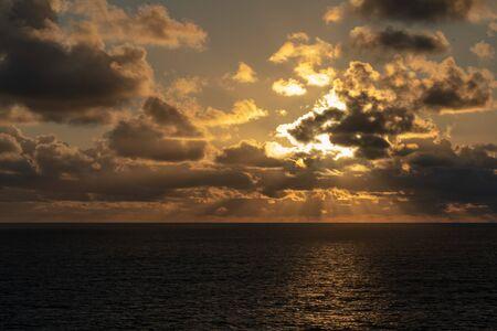 Sunrise out at sea