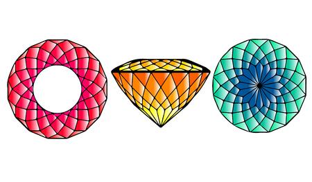 portuguese: Color Cut Gems. Portuguese. Set of Three.