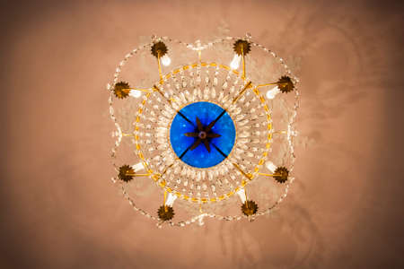 the view from below: Expensive Luxury Vintage Chandelier View from Below