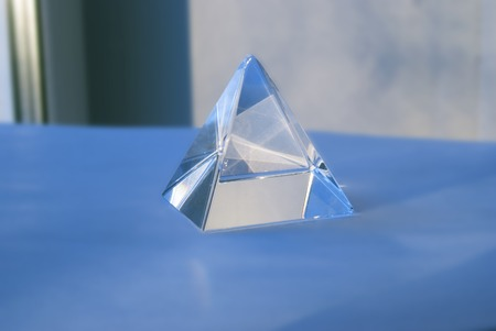 Glass Prism. The Pyramid. Geometric Forms Science