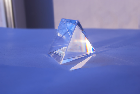 refraction of light: Glass Prism. The Pyramid. Geometric Forms Science
