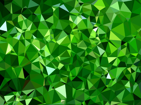 Beautiful emerald green lime abstract mosaic polygonal background Illustration