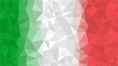 Flag of Italy, geometric polygonal triangle style, Illustration vector