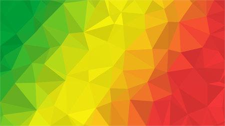 Congo low poly triangle geometric style flag
