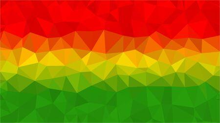 Fondo de bandera de Bolivia poli baja triángulo estilo Vectores