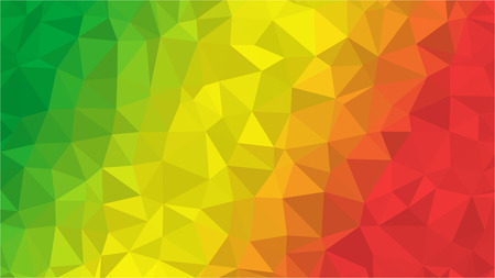 Congo low poly triangle geometric style flag