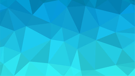 Blue Aquamarin Polygonal Mosaic Background, Creative Design Templates.
