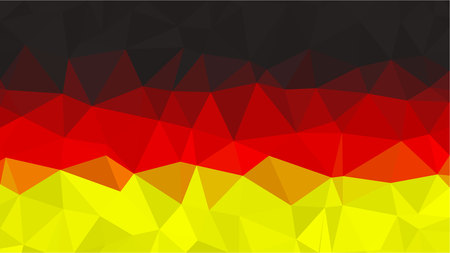 Polygonal Triangle Flag of Germany.  National flags in low poly design for your business