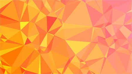 Orange and Pink Gradient Polygonal Triangle Vector Image. Abstract Color Background for your Business Style. Diamond Texture Template Ilustração