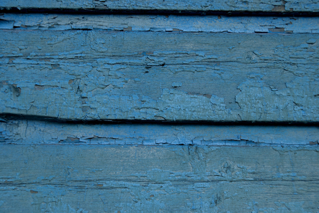 Old Blue Wooden Texture Background. Bright Wood  Structure.