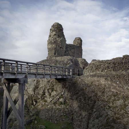 montgomery: Ruins of Montgomery Castle Stock Photo