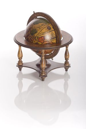Old desktop globe of the world Imagens